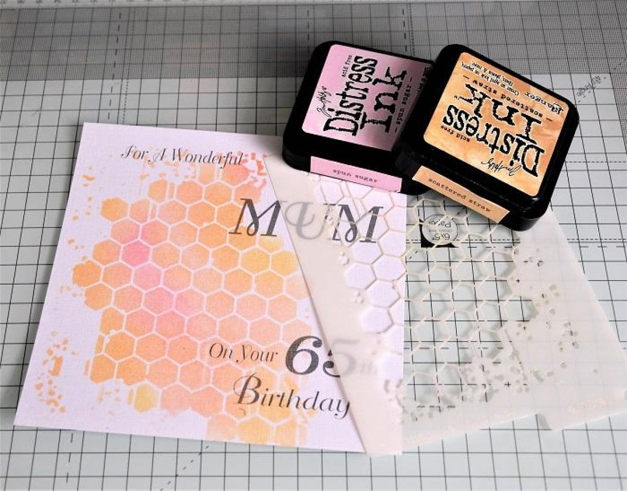 65Th Birthday Boxed Card Tutorial 1