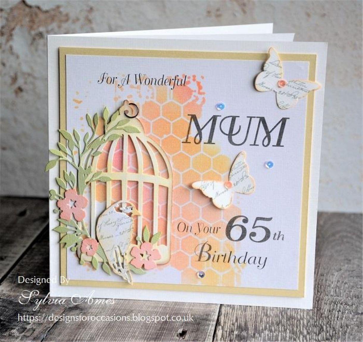 65Th Birthday Boxed Card Tutorial 6