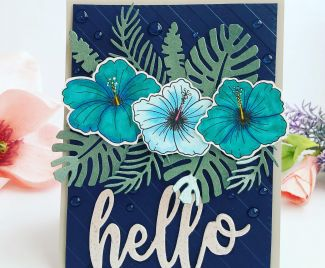 Hello Floral Card (Pantone 2020 Colour)