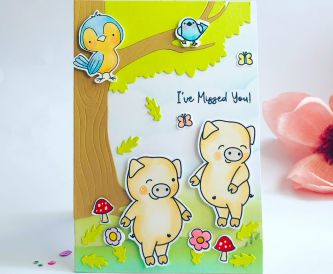 A cute piggy card