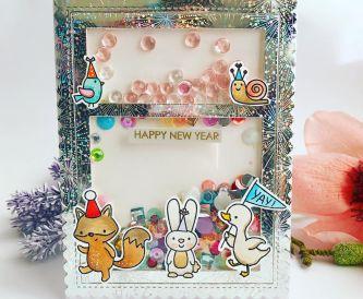 Happy New Year Shaker Card