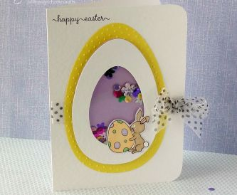 How to make an Easter Egg Shaker Card