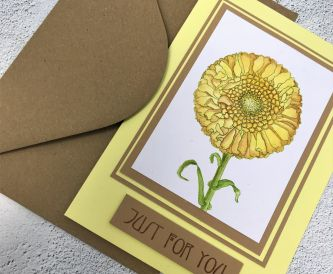 "How To Make A Yellow Marigold ""Just For You Card"""