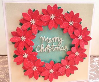 Christmas Poinsettia card