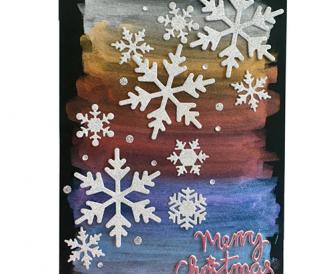 Metallic Watercolour Snowflakes