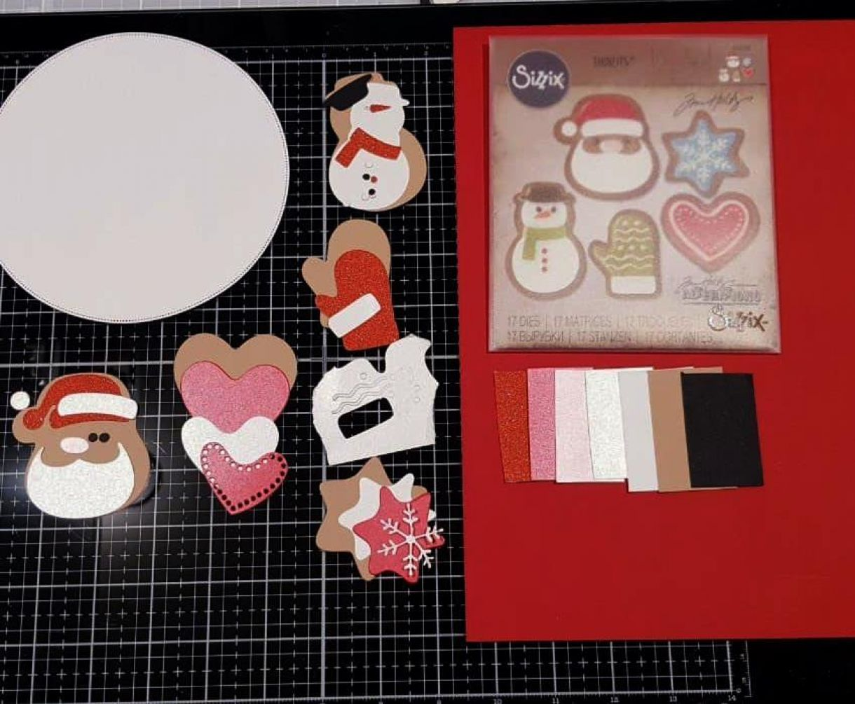 Apb Red And White Baked With Love At Christmas All Die Cut