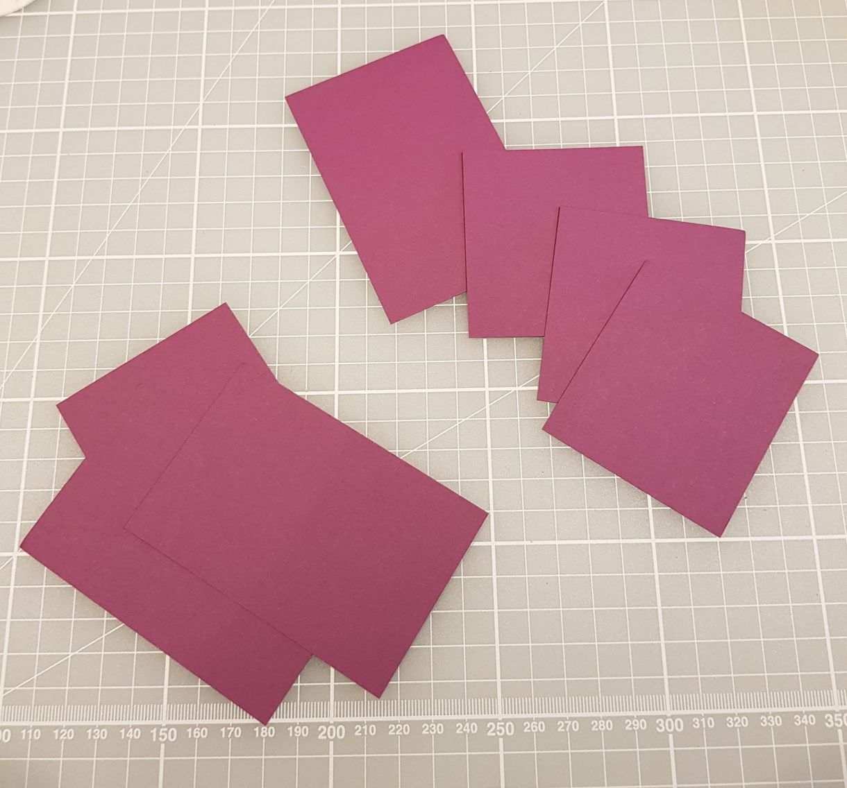 Create Mats in White and Purple Grape