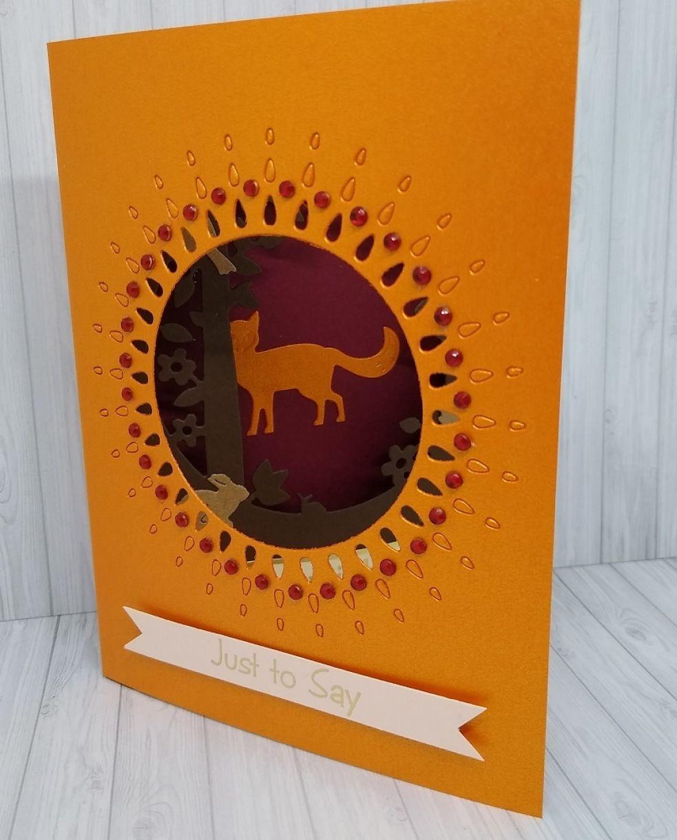 Autumnal Aperture Shadow Box Card 1