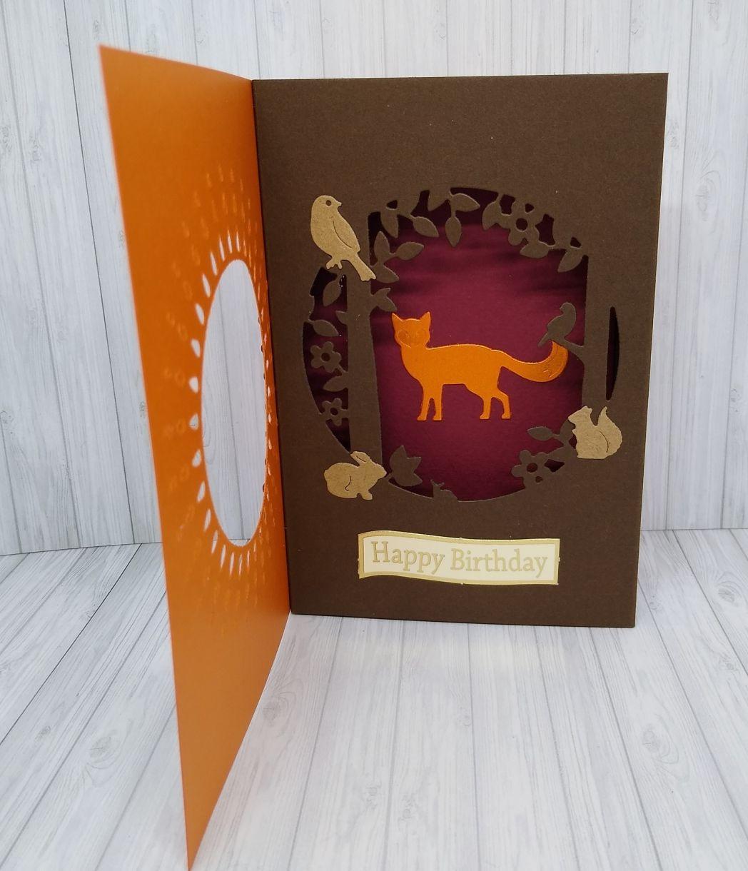 Autumnal Aperture Shadow Box Card 2