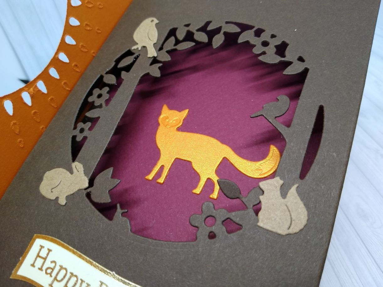 Autumnal Aperture Shadow Box Card 3