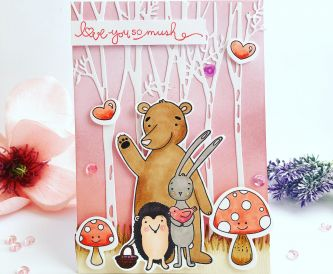 Love you woodland critter scene