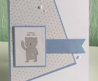 SIMPLE BABY BOY CARD