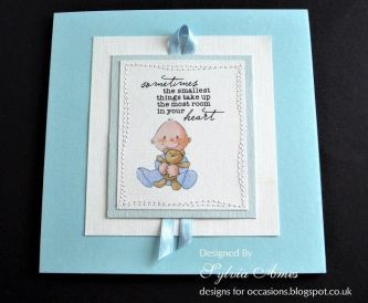 Handmade New Baby Card Idea