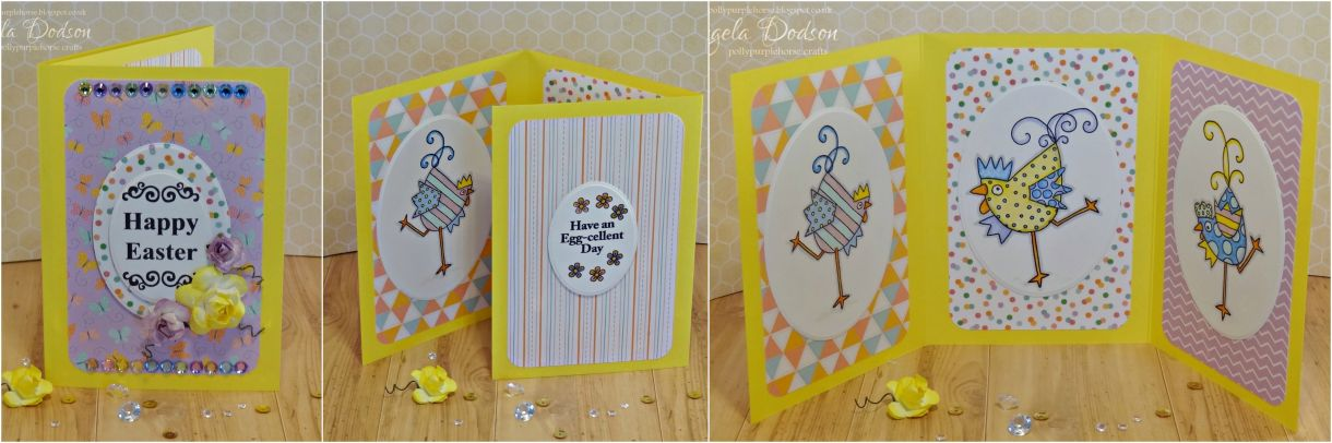 Be Funky Collage Easter Tri Fold Card