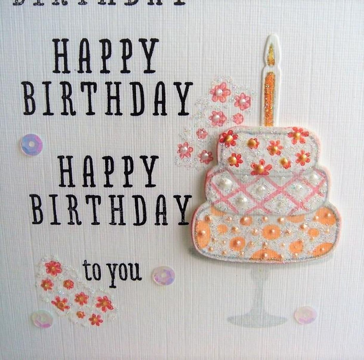 Birthday Cake Die Cut Card 1