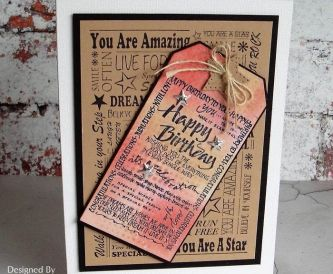 Using Word Collage Stamps Cardmaking Tutorial