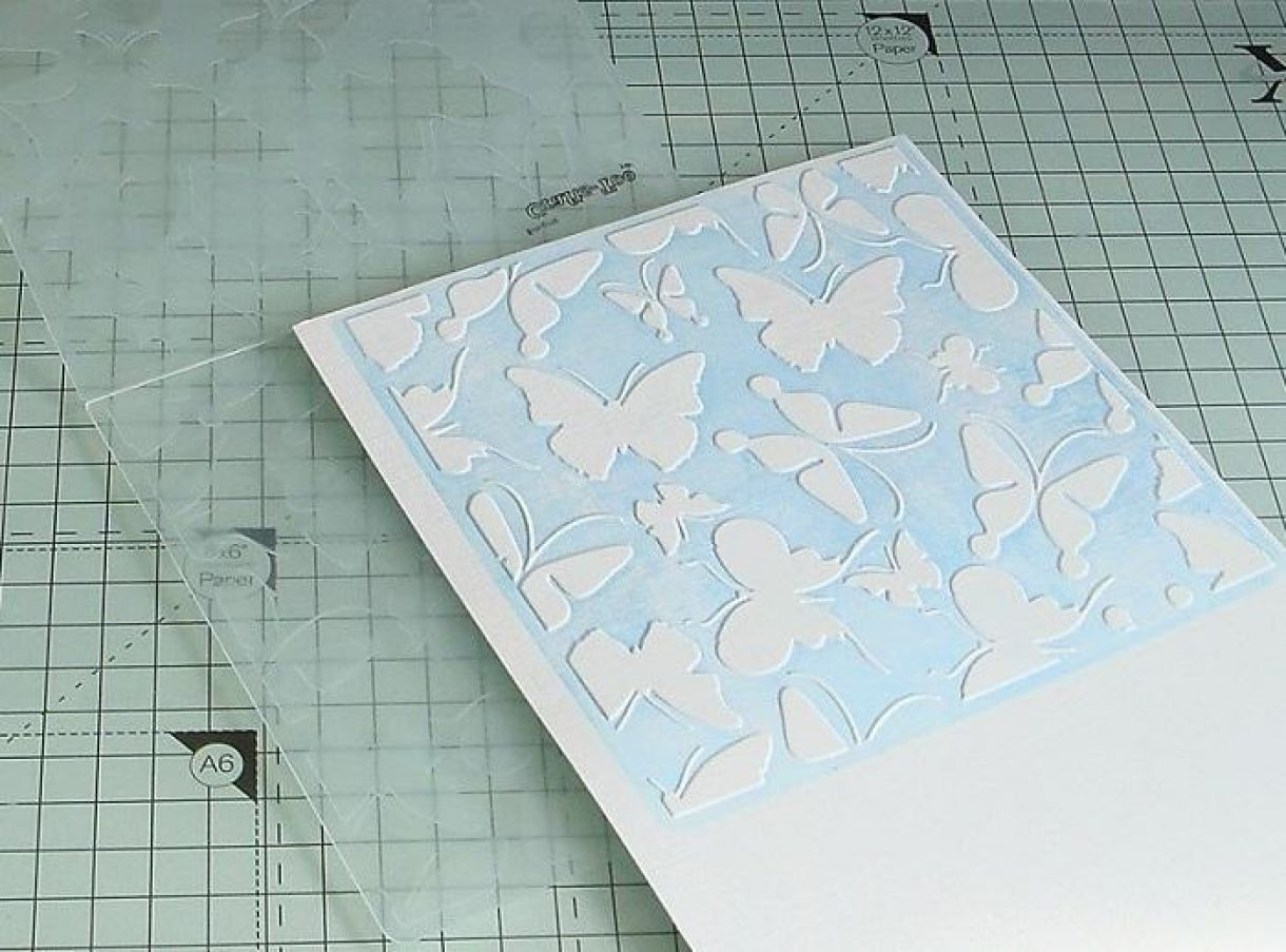 Blue Butterfly Embossing 8