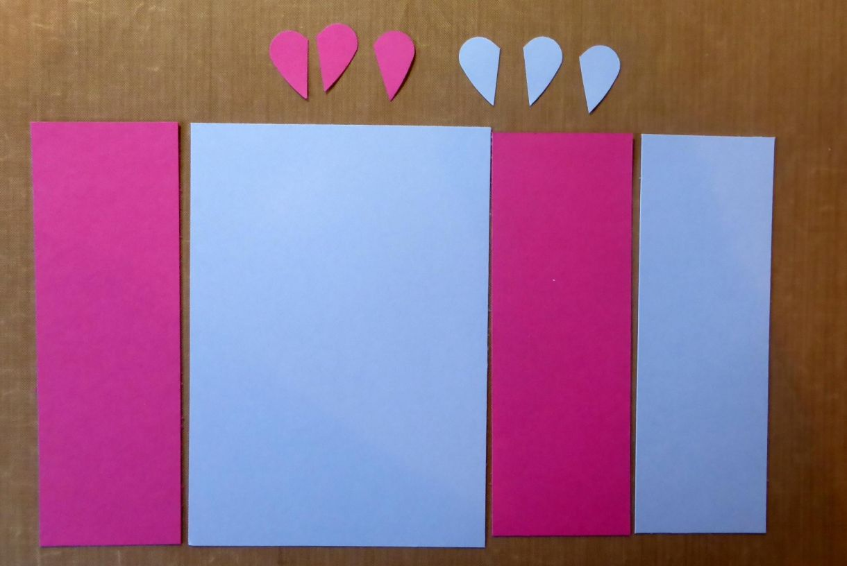 Blue Pink Heart Card 1