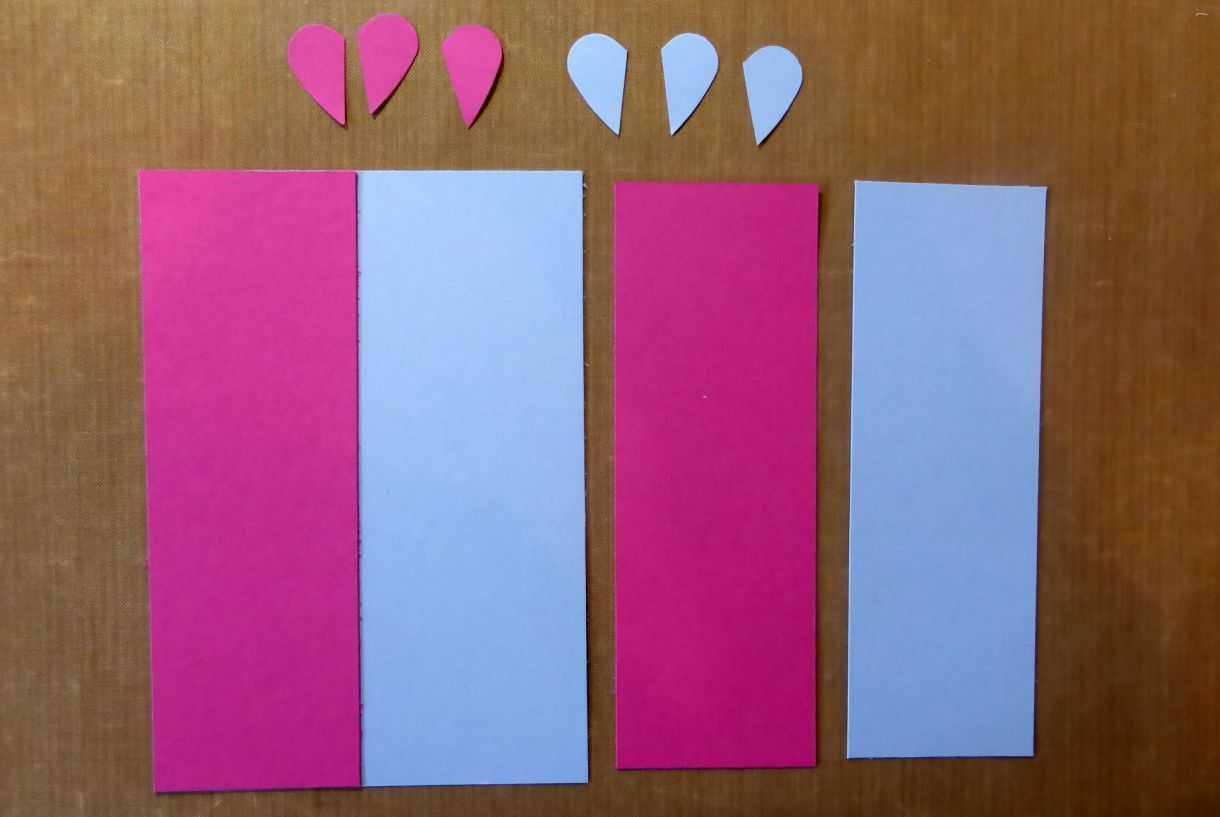 Blue Pink Heart Card 2