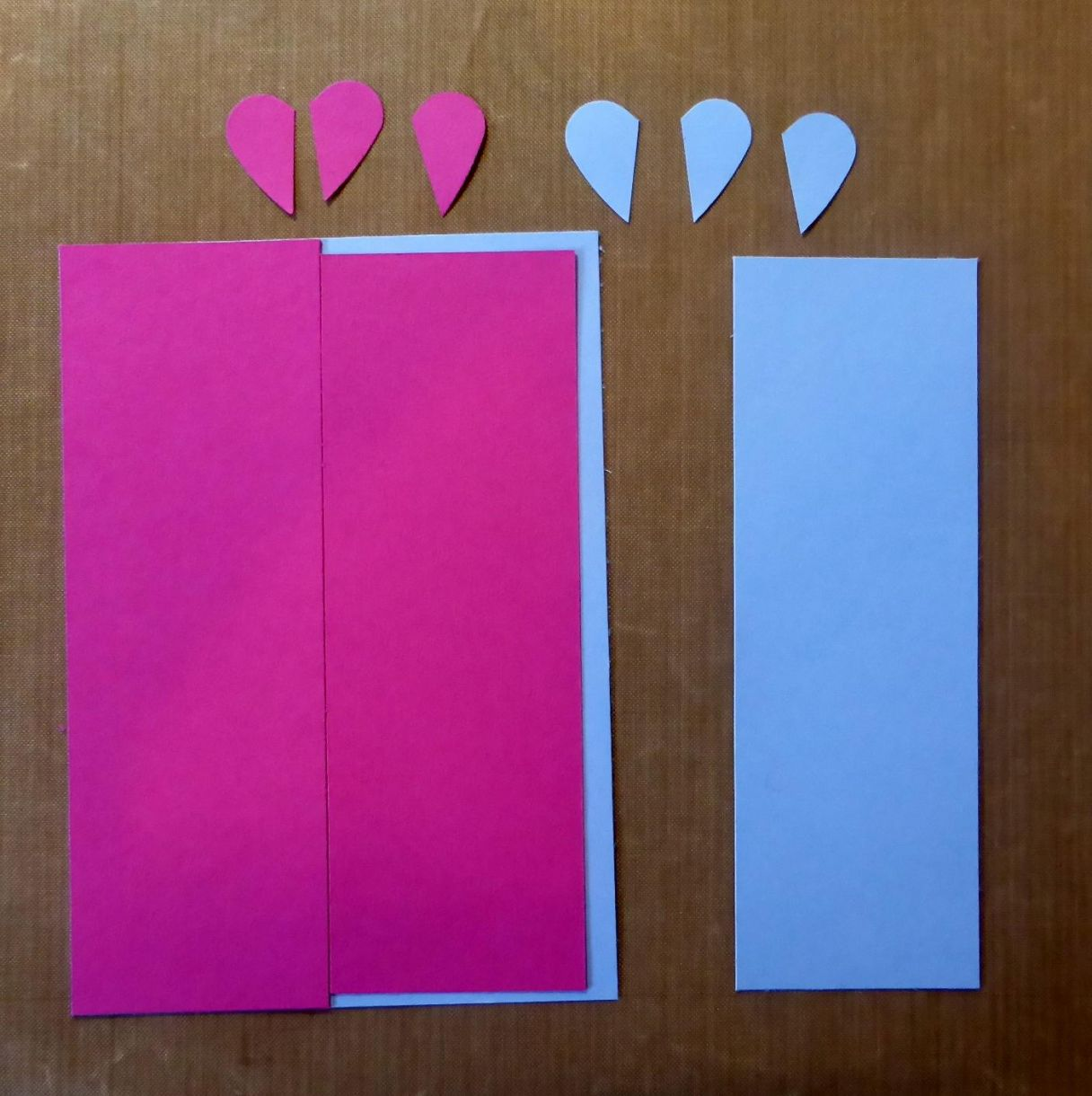 Blue Pink Heart Card 3