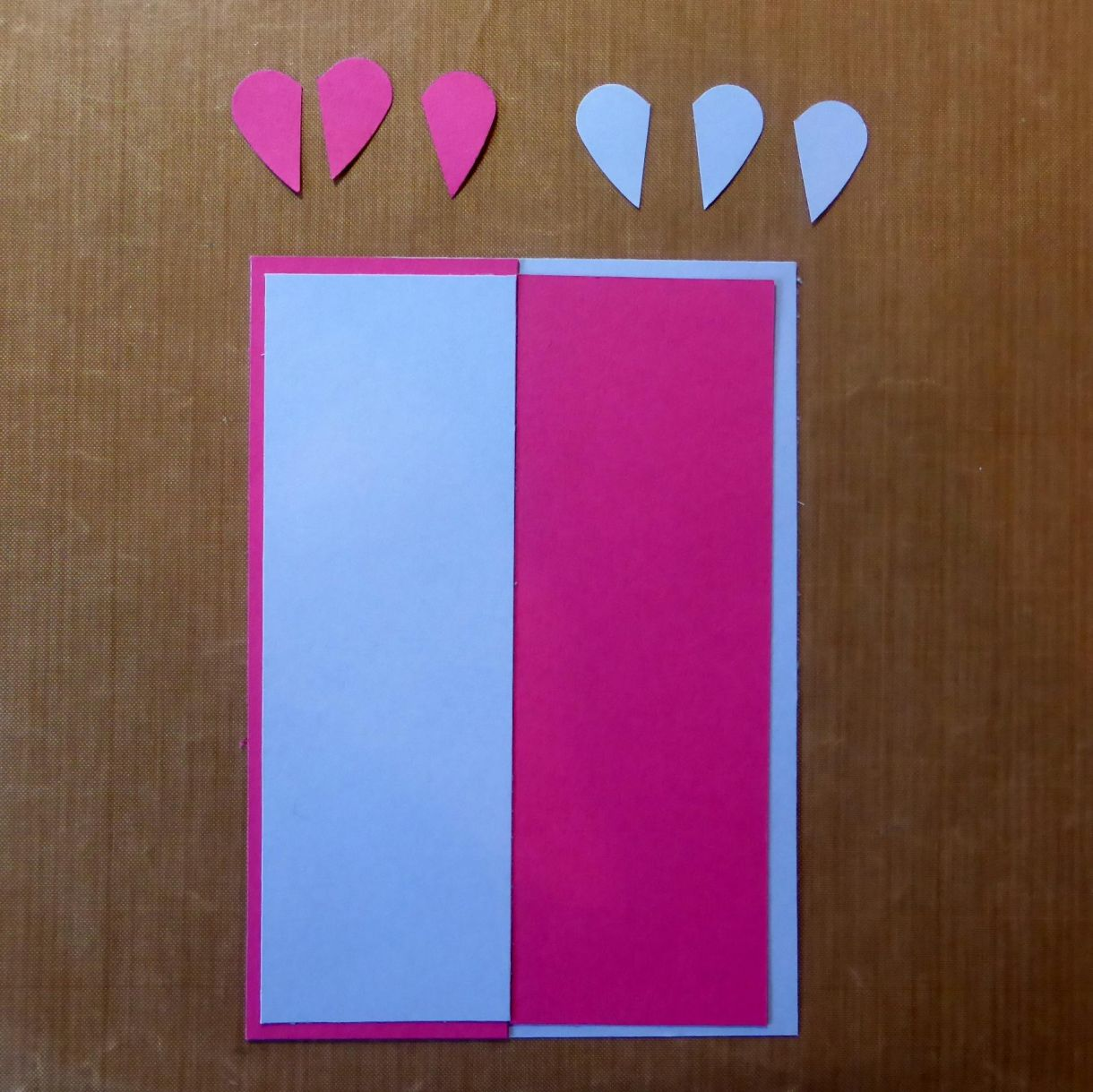 Blue Pink Heart Card 4