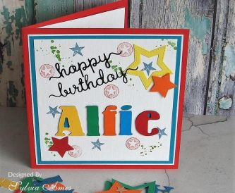 A Bright Personalised Birthday Card For A Young Boy