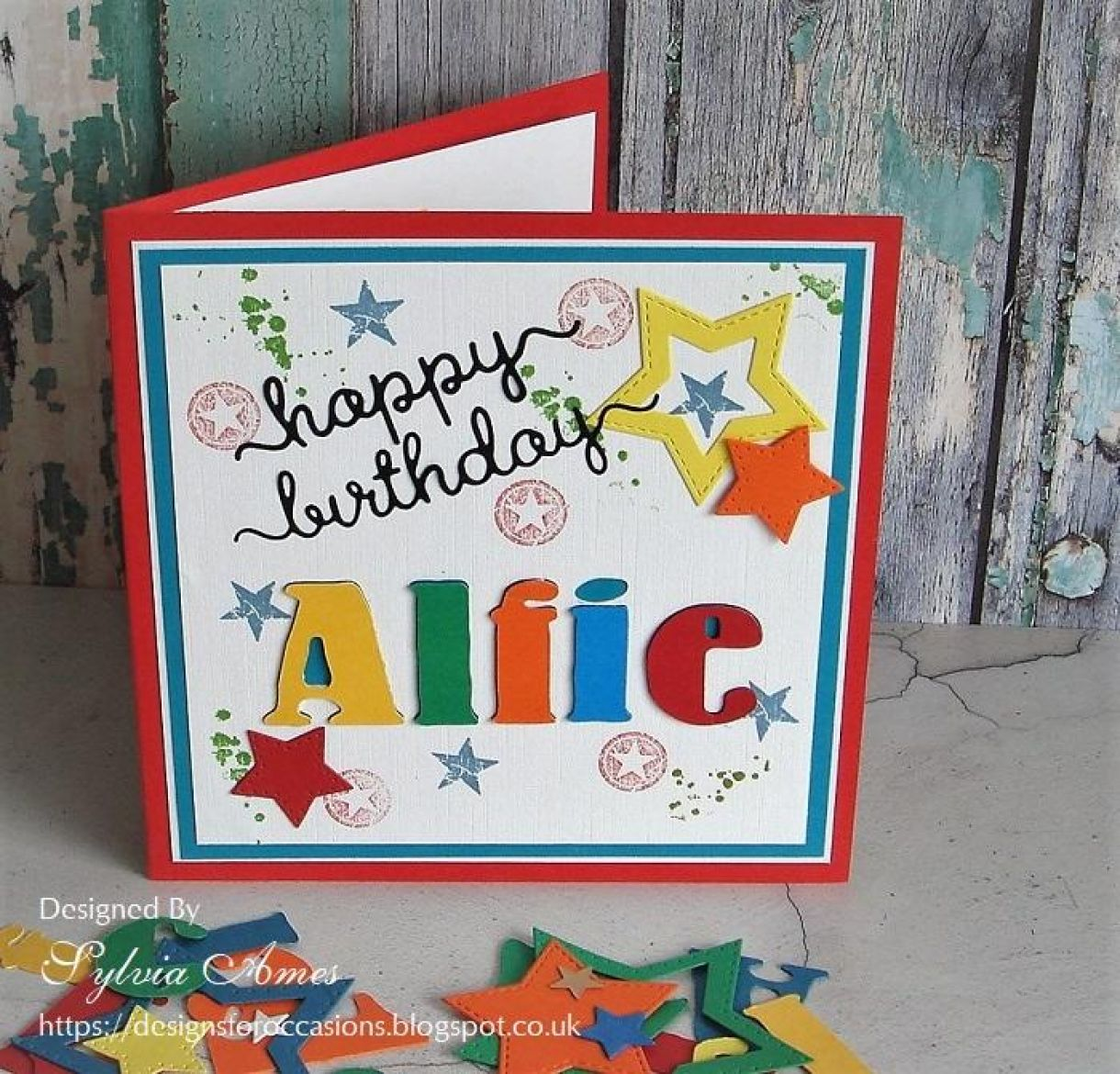 A Bright Personalised Birthday Card For Young Boy