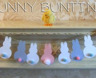 Kids Easter Crafts - How to Make Bunny Bunting