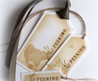 DIY GIft Tags - No Peeking Christmas Tags