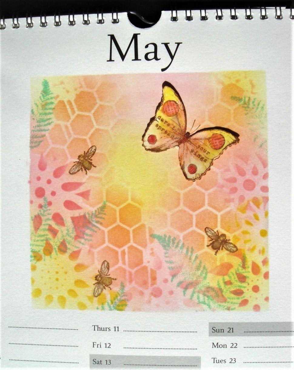 Calendar Page May Spring 2