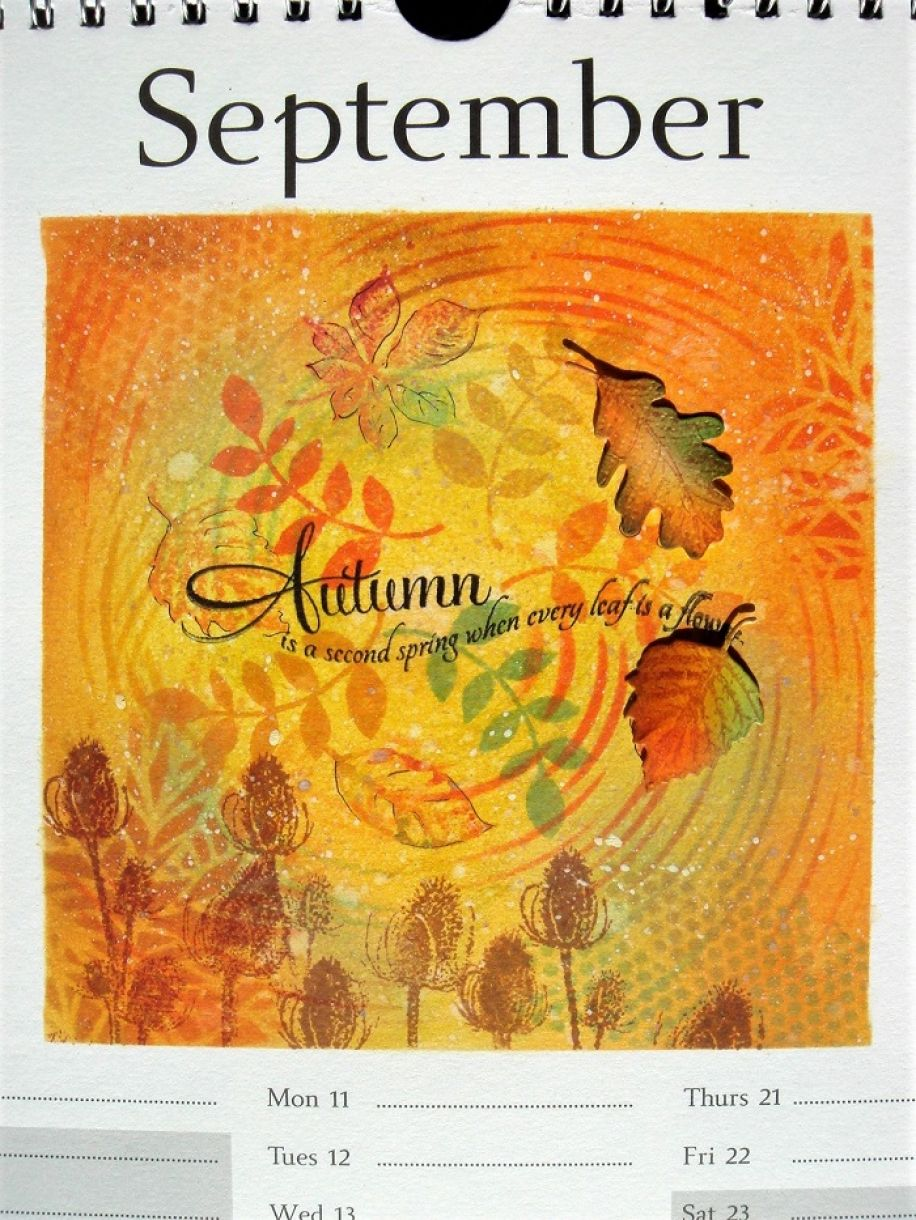 Calendar Page September Autumn 2