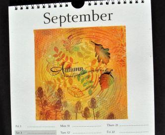 A September Calendar Page - Autumn Craft