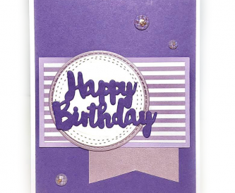 MONOCHROME BIRTHDAY CARD