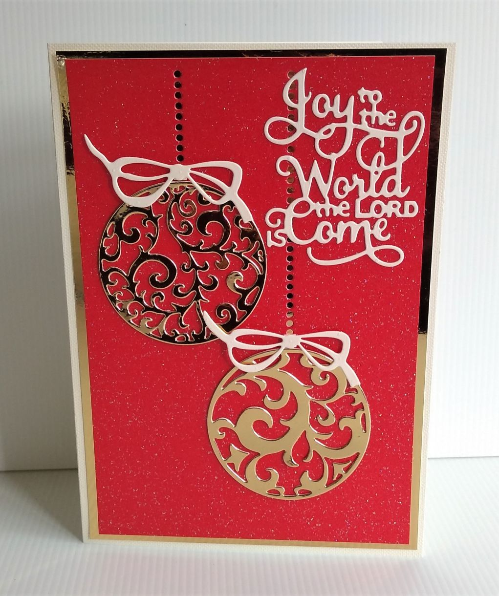 Christmas Bauble Card 16 Oct 2019 2