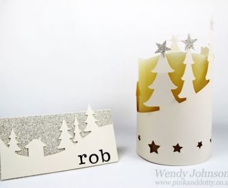 Christmas Place Card & Lantern