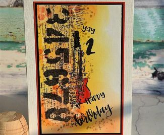 Stamped Collage Card For A Special Young Man
