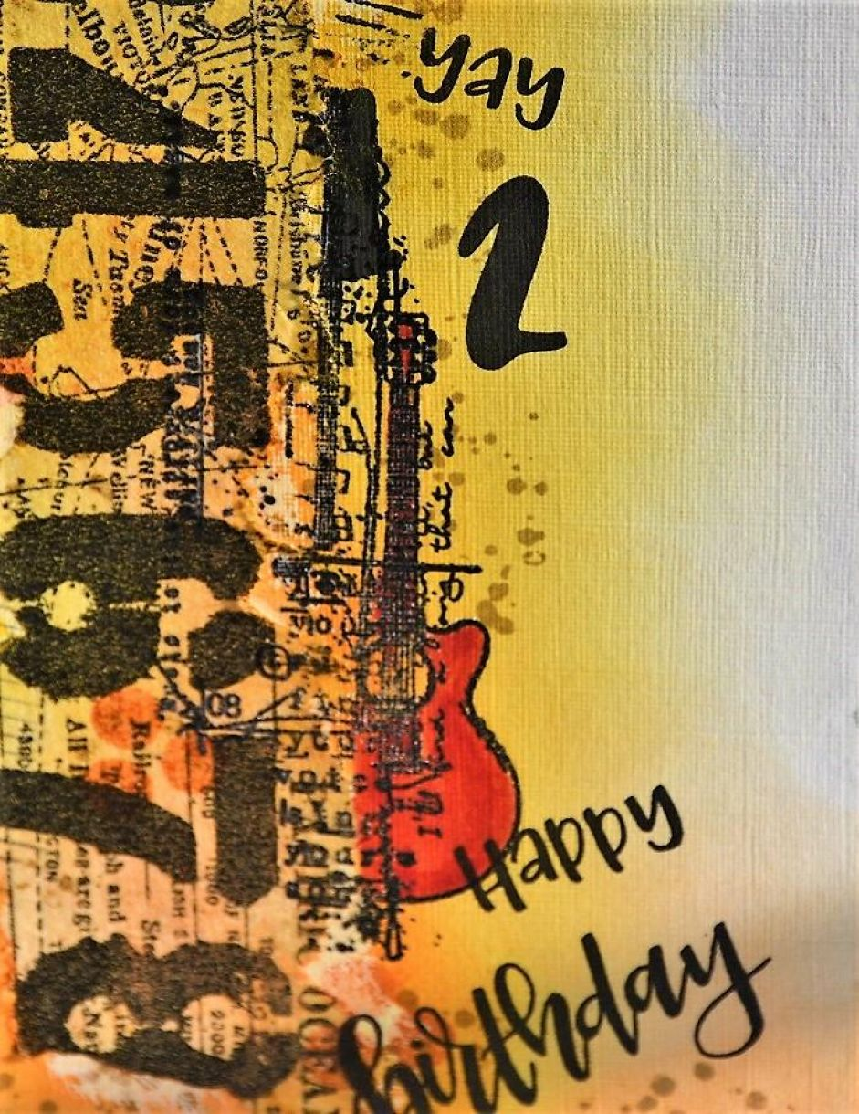 Collage Birthday Card With Guitar 3