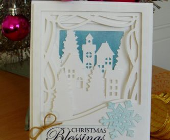 White On White 3D Christmas Card