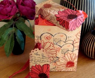 Valentine Gift Box and Tag