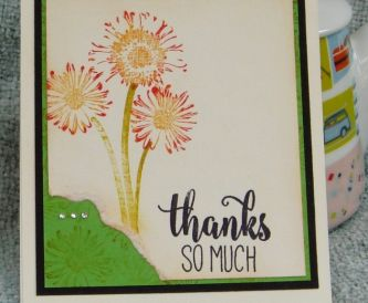 Floral Thank You Cards with a Daisy Stamp