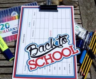 Back To School Clipboard and Tag