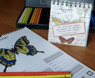 The Butterflies Count The Months - Desk Calendar