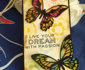 Live Your Dream Butterfly Tag