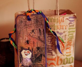 Halloween Tag And Treat Bag