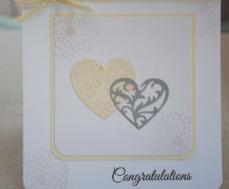 Celebration Card in White, Ivory And Silver