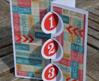 Triple Flip Flap Swing Card