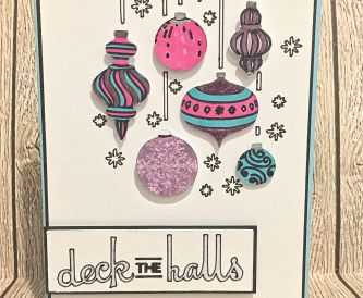 Glitzy 'Deck the Halls' Christmas Card