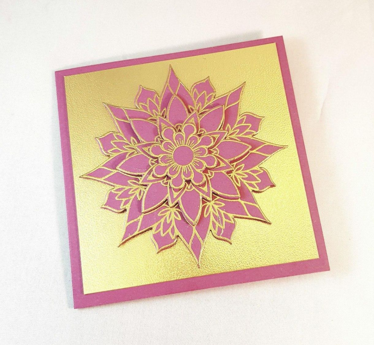 Dark Pink Gold Diwali Front Main