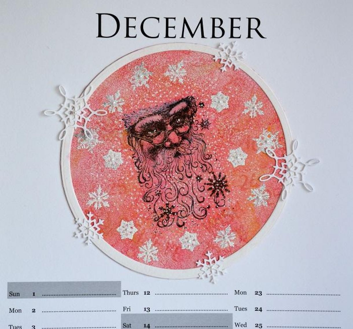 December Calendar Page Sylv 4