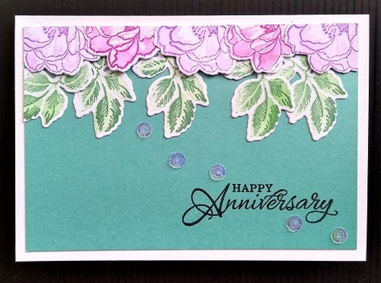 Die Cut Flower Cards Anniversay 1